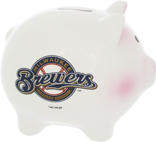 The Memory Company MLB Milwaukee Brewers Official Team Piggy Bank, Multicolor, One Size by The Memory Company
