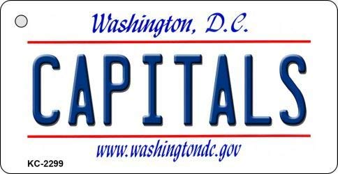 Capitals Washington DC State License Plate Key Chain with Sticky Notes