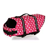 Yosoo Assorted Color Choice - Swimming Water Pet Life Jacket Life Preserver Vest Saver Pet Dog Saver Life Vest Coat Flotation Float Life Jacket Aid Buoyancy for Doggy Puppy Neon Hound Safety Aquatic Saver (Rose, XXS)