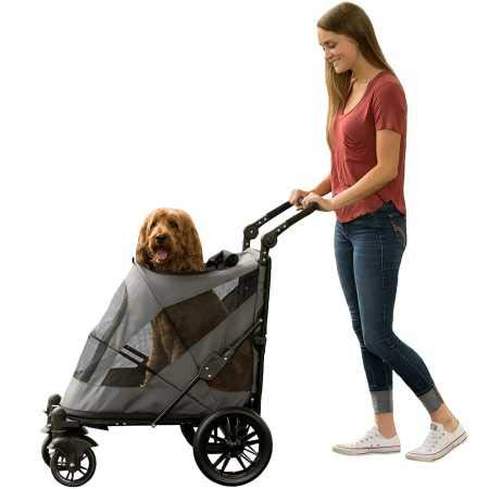 Pet Gear NO-Zip Stroller, Push Button Zipperless Dual Entry, for Single or Multiple Dogs/Cats, Pet Can Easily Walk in/Out, No Need to Lift Pet by Pet Gear