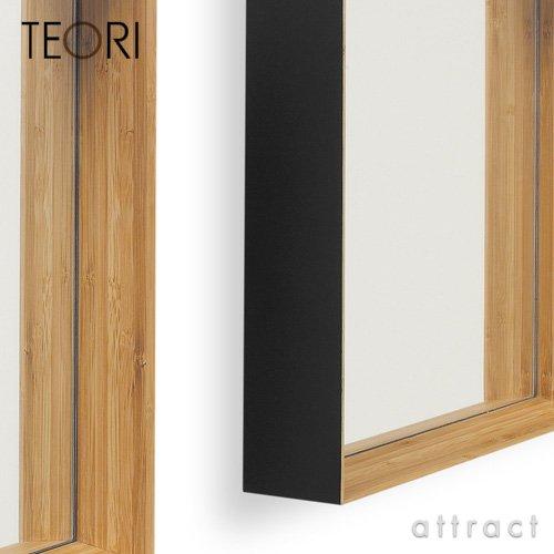 TEORI テオリ 竹集成材プロジェクト ZERO KAKU ゼロカク ミラー 鏡 (墨色) B00BGZ6FC0墨色