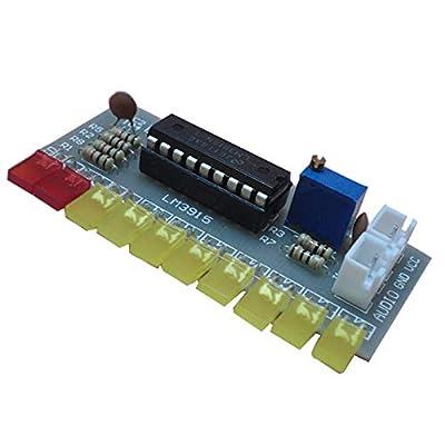 TOOGOO LM3915 Audio Level Indicator DIY Kit 10 Led Sound Audio Spectrum Analyzer Level Indicator Kit Electoronics Soldering
