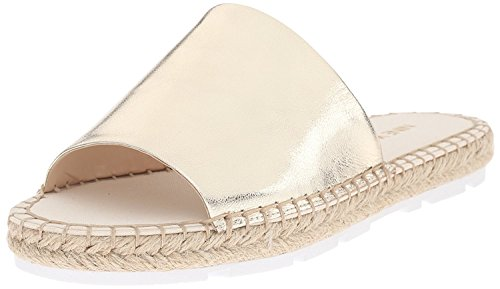 Nine West WomenS Davinia Metallic Espadrille Flat, Dorado Claro, 37.5 B(M) EU/5.5 B(M) UK