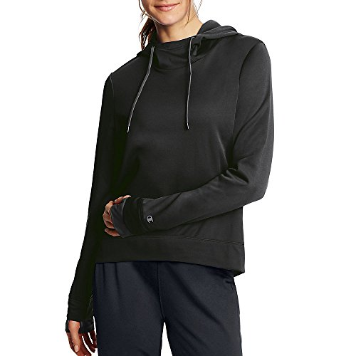Champion Women's Tech Fleece Pullover Hoodie_Black_M