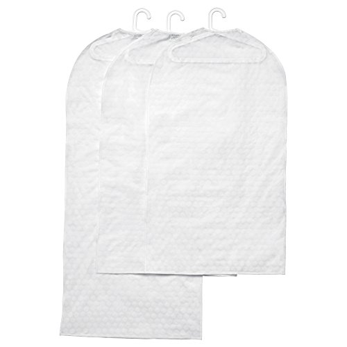 Ikea Pluring Clothes Covers Storage Garment Bags 3 Transparent White, 2...