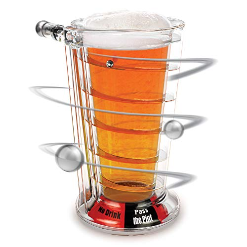 Barbuzzo Pinball Pint Glass - a Fun Drinking Game That Makes a Perfect Companion for Any Party or Other Fun Occasion