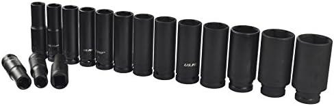 16pc 1//2 Dr 6 Point European Deep Impact Socket Set 10-32mm US PRO AT468