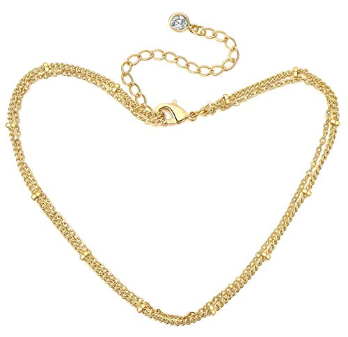 COLROV Cute Dainty Anklets for Women Girls 14k Gold Foot Jewelry Beach Ankle Bracelets Color Golden - Gold Filled Anklet