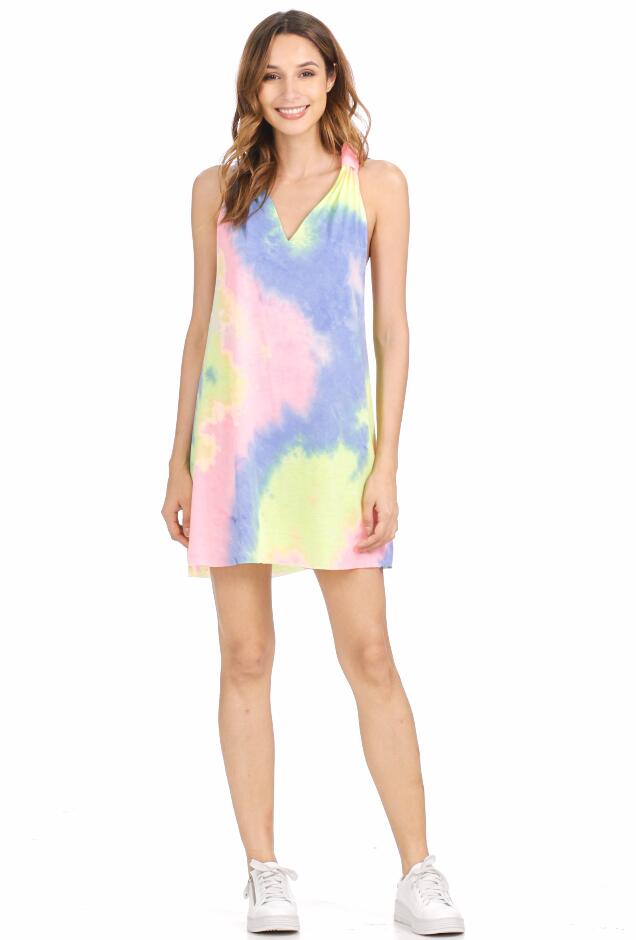 Sleeveless Casual Swing Tee Shirt Dress