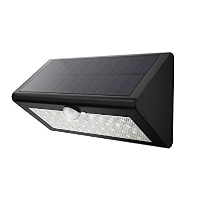 Solar Motion Light, Fugetek FT-38L Super Bright 38 LED Solar Powered Wireless Weather-proof Motion Activated Solar Energy Home Office Security Light