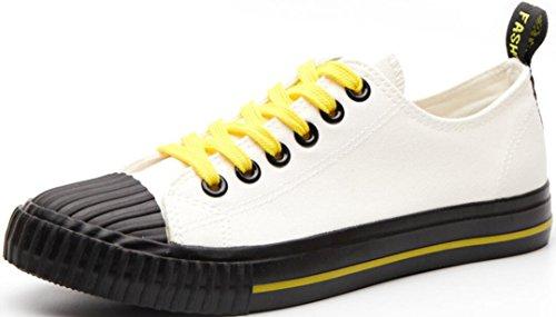Scarpe Di Tela Satuki Per Uomo, Sneakers Moda, Casual High Top Classico Allacciate Morbide Scarpe Sportive Leggere Atletiche Piatte Nere