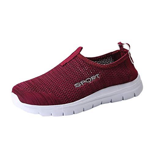 XUANOU Sneakers Couple Men's Women's Mesh Lightweight Lazy Casual Running Shoes