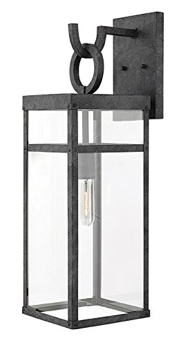 Hinkley Bronze Outdoor Lighting - Hinkley 2805DZ Transitional One Light Outdoor Wall Mount from Porter collection in Bronze/Darkfinish,