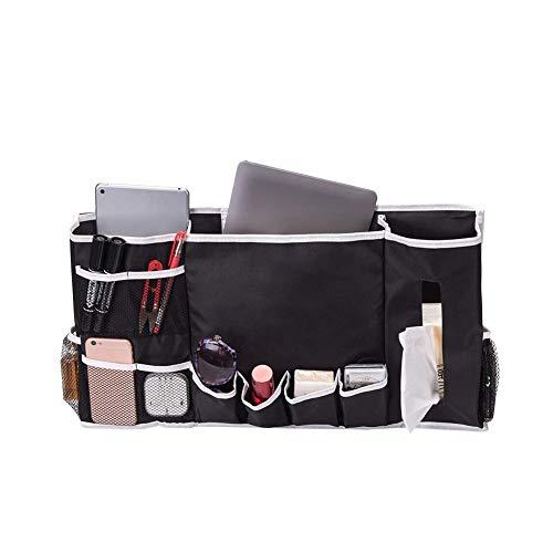 Bedside Caddy Organizer Dorm Room Essentials, Hanging Bedside Storage Bag 12 Pockets, Bunk Bed College Dorm Rooms, Hanging Storage Organizer Holds Your Laptop, Books, Tablet, Phone, Water Bottle