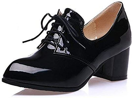 Latasa Womens Mid Chunky Heel Oxford Shoes