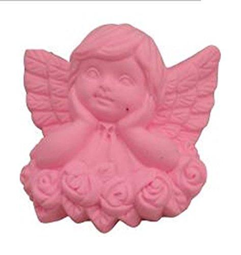 Metal Cherub Candle Holders - Wistful cherub over roses 3D soap mold