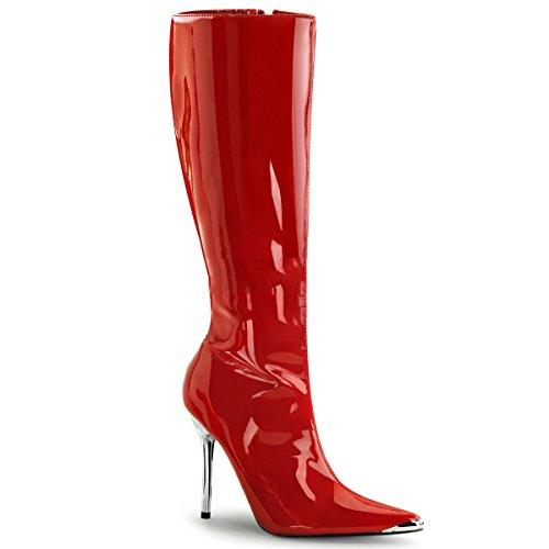 Pleaser Heat-2010 - Sexy High Heels Stiefel mit Chrom Absatz 36-45