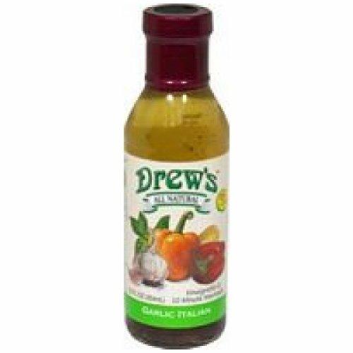 Drew'S Garlic Italian Dressing (Pack Of 6) (Drews Italian Dressing compare prices)