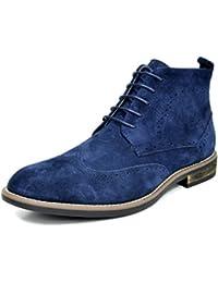 BRUNO MARC MODA ITALY URBAN Men's Classic Lace Up Original Suede Leather Midsole stripe Desert Wind boots