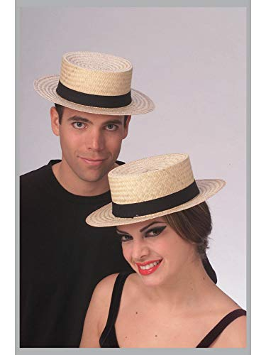 Rubie's Costume Co Economy Straw Sailor Hat Costume, Large, Multicolor]()