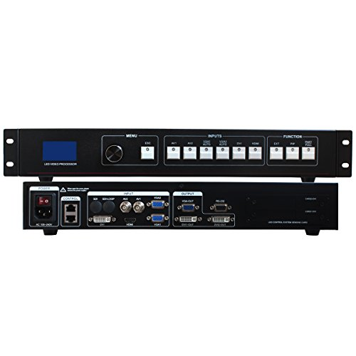 Amoonsky AMS-MVP508 Series LED Video Processor HDMI DVI VGA AV 2304 x 1152 Support 2 Sending Cards for LED Video Display Controller Linsn Novastar