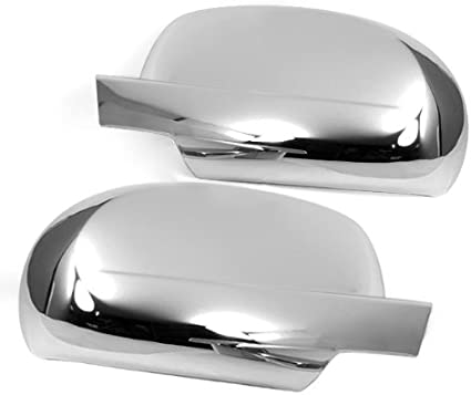 eLoveQ CHROME TOP HALF SIDE MIRROR COVER COVERS FOR 2015-2019 Chevy TAHOE//SUBURBAN; GMC YUKON//YUKON XL; CADILLAC ESCALADE//ESCALADE ESV ^DO NOT FIT THE MODELS WITH SIDEVIEW CAMERA^
