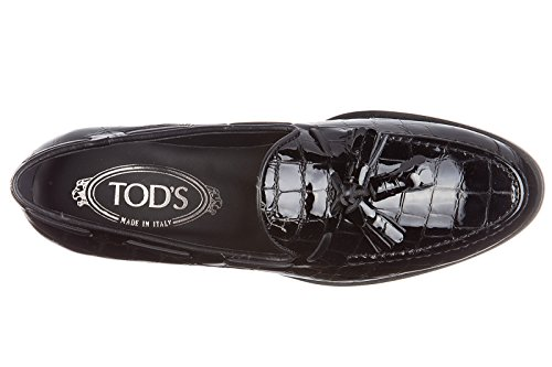 Mocassini Tods In Pelle Da Donna Slipper Rubber Xl Nappine Black