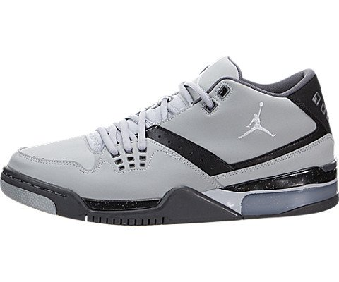 Nike Jordan Men's Jordan Flight23 Grey/Black Basketball Shoe 8.5 Men US (Jordan Flight 1 Low)