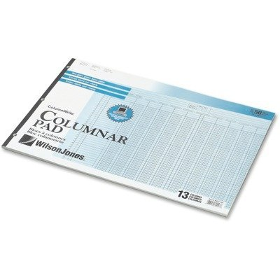 Wilson Jones : Accounting Pad/25 6-Unit Columns, 11 x 24 1/4, 50-Sheet Pad -:- Sold as 2 Packs of - 1 - / - Total of 2 Each