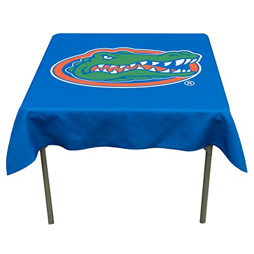 College Flags and Banners Co. Florida Gators Logo Tablecloth or Table Overlay (Florida Square Gators)