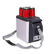 Autolover 12V Portable Car Refrigerator Personal Fridge Car Thermoelectric Cooler Warmer Truck Electric Fridge For Travel And Camping With Shoulder Strap- 6L Capacity