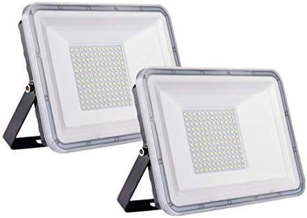 2 Pack 100W Proyector LED exterior IP67 Impermeable Foco exterior 10000 lumen Blanco frío 6500K Iluminación Led Floodlight para jardín garaje estacionamiento almacén Iluminación del paisaje: Amazon.es: Iluminación