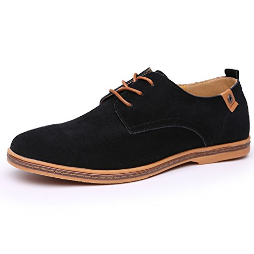 Fashion brand best show Men's Classic Oxford Leather Flats Shoes Lace Up by Fashion brand best show