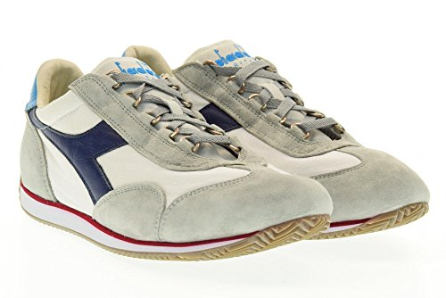 DIADORA HERITAGE man low sneakers EQUIPE STONE WASH 12 156988 01 70400 White h0uu7yG