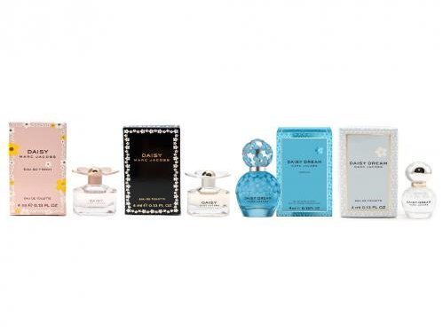 Four Daisy (Marc Jacobs Daisy 4 Piece Variety Mini Fragrance Gift Set for Woman, Coffret)