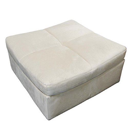 Beige Sectional Sofa Set Couch Upholstered Suede Fabric Armless Chairs Corners Ottoman Couch Comfort Modern Living Room Furniture