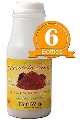 NutriWise - Chocolate Instant Protein Diet Drink (6/Bottles)