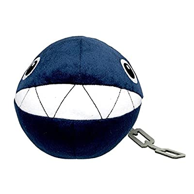 "Little Buddy Super Mario All Star Collection 1592 Chain Chomp Stuffed Plush, 5"",Multicolor: Toys & Games"