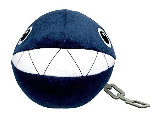 Little Buddy Super Mario All Star Collection 1592 Chain Chomp Stuffed Plush, 5
