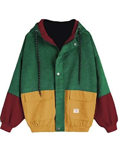 Più Velluto Cappuccio Baseball Il Zip Colore Outwear Ha Dimensioni Colpito Con Energywomen Di Splicing Pattern1 qIwZHx11d