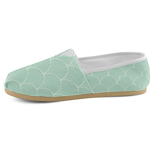 Mocassini Da Donna Di Interestprint Classico In Tela Casual Slip On Fashion Shoes Sneakers Flat Waves Floreali