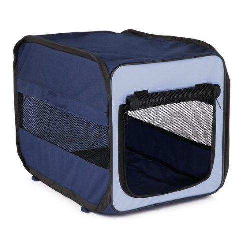 Trixie 39692 Transport-Hütte Twister, faltbar, hellblau/dunkelblau, Größe S, 45 × 45 × 64 cm