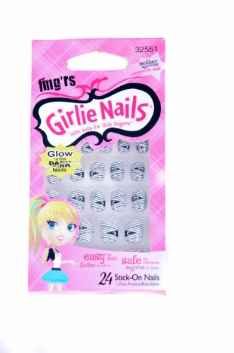 Fing'rs Girlie Nails 24ct Stick on Nails HALLOWEEN MUMMIES! 32551