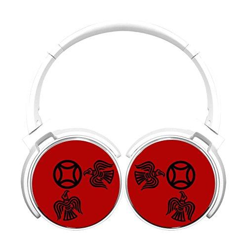 (MagicQ New Viking Raven Bluetooth Headphones,Hi-Fi Stereo Earphones White)