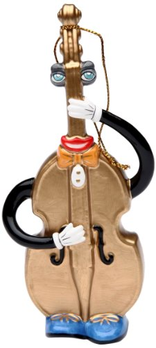 Appletree Design Double Basses Ornament, 6-Inch Tall, Includes String for Hanging
