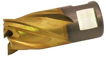 "Jancy Slugger High Speed Steel Annular Cutter, Uncoated (Bright) Finish, 1/2"" Annular Shank, 3/4"" Depth"