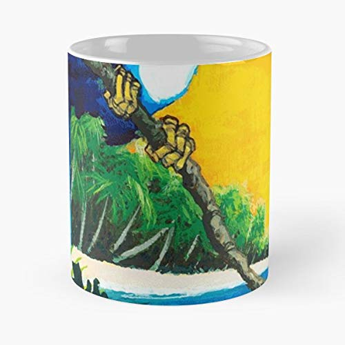 Costa Rica Tropic Beach Exotic Parrot Vintage - Best Gift Ceramic Coffee Mugs 11 Oz ()