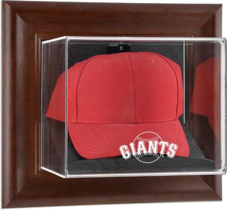Mounted Memories San Francisco Giants Brown Framed Wall Mounted Logo Cap Case