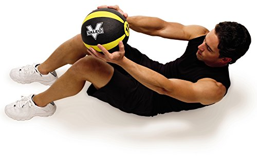 Valeo 12 Lb Medicine Ball With Sturdy Rubber Construction And