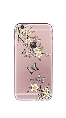 Case iPhone 6 Plus Funda iPhone 6S Plus Carcasa TPU Impresión Suave Ultra Slim / Resistente a los Arañazos Flexible Bumper Case Cover [Ultra-delgado] [Shock-Absorción] Protectora Contraportada Caja de Amarillo